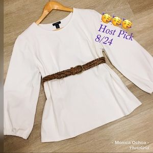 🎉HP🎉NWOT Halogen Ivory white L/S blouse top XL